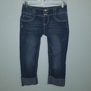 Angels crop cuffed jeans